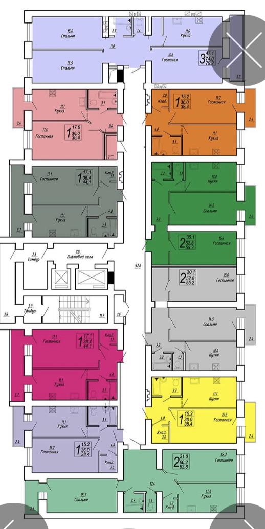 Продам 2-комнатную квартиру в городе Саратов, на улице им Блинова Ф.А.,  50В, 11-этаж 14-этажного кирпичный дома, площадь: 62.8/31/11.5 м2