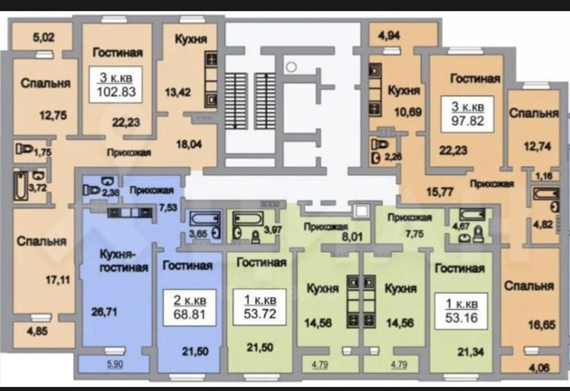Продам 2-комнатную квартиру в городе Саратов, на улице шоссе Усть-Курдюмское,  10, 3-этаж 19-этажного монолит дома, площадь: 66/48/12 м2