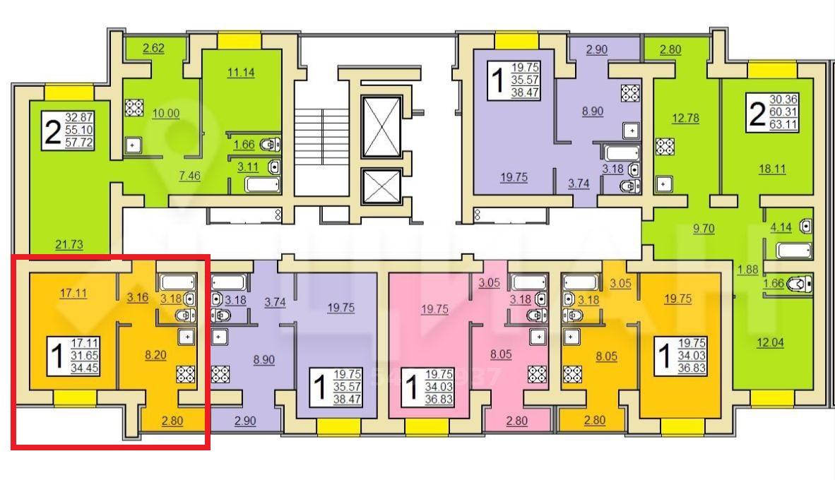 Продам 1-комнатную квартиру в городе Саратов, на улице проспект Энтузиастов,  29, 11-этаж 16-этажного кирпичный дома, площадь: 34.45/17.11/8.19 м2