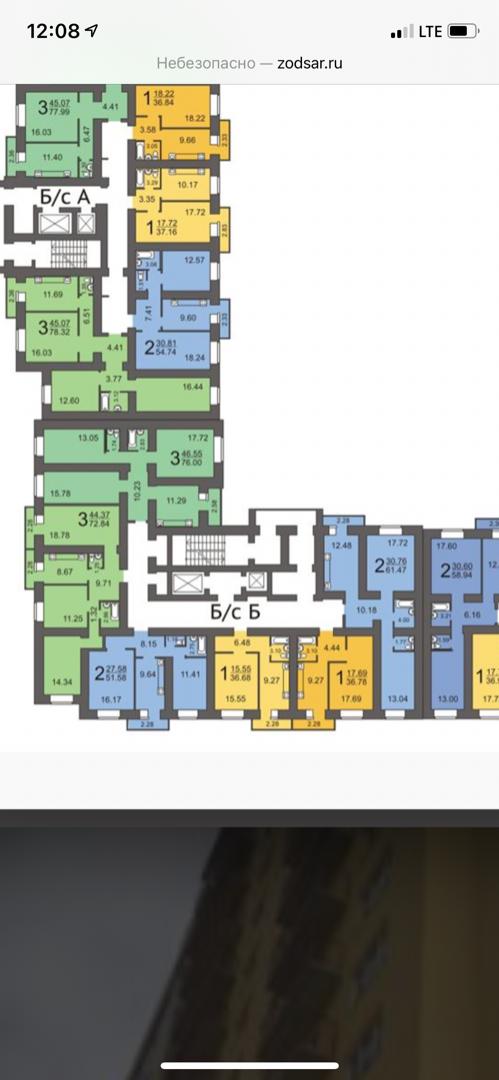 Продам 1-комнатную квартиру в городе Саратов, на улице Лунная,  43В, 15-этаж 17-этажного кирпичный дома, площадь: 36.68/15.55/0 м2