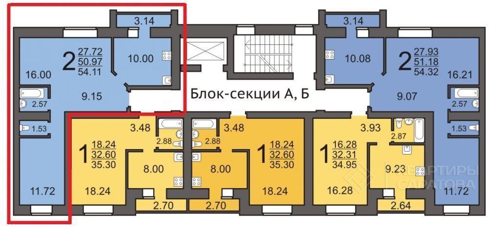 Продам 2-комнатную квартиру в городе Саратов, на улице Миллеровская,  15А, 4-этаж 10-этажного кирпичный дома, площадь: 54.32/0/10 м2