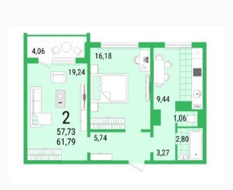 Продам 2-комнатную квартиру в городе Саратов, на улице Ламповая,  2, 7-этаж 10-этажного панельный дома, площадь: 61/31/11 м2
