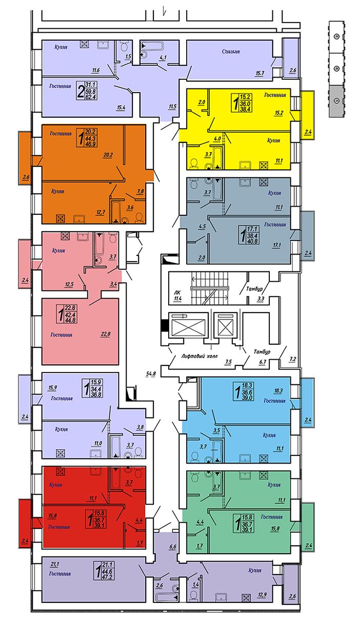 Продам 2-комнатную квартиру в городе Саратов, на улице им Блинова Ф.А.,  50в, 1-этаж 14-этажного кирпичный дома, площадь: 62.4/0/11.6 м2