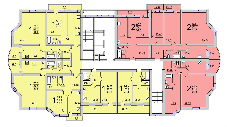 Продам 1-комнатную квартиру в городе Саратов, на улице проезд Шелковичный 13-й,  13, 6-этаж 14-этажного кирпичный дома, площадь: 52.9/22/13 м2
